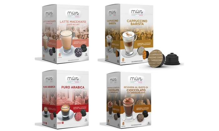 64 Dolce Gusto Compatible Coffee and Hot Chocolate Capsules  for £15.99
