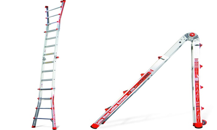 Little Giant Alta One 17 Ladder With Wall Rack Groupon