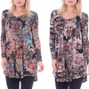 Long Sleeve V-Neck Women's Tunic Top (Available in Plus Size)