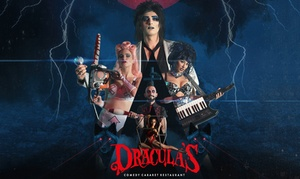 Dracula's (Gold Coast): Cabaret Show with a Three-Course Dinner on Tue-Fri for Up to Ten at Dracula's (Up to $1,050 Value)