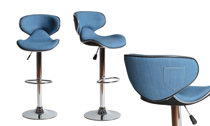 ensemble de 2 tabourets de bar groupon. Black Bedroom Furniture Sets. Home Design Ideas