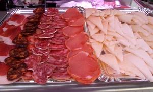 Charcutería Amparo Mercado Central: Mercado Central: degustación de jamón y embutidos ibéricos, bandeja de quesos curados y vino para 2 o 4 desde 8,90€