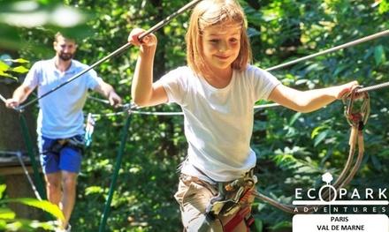 1 à 4 entrées dès 15 € à l'Ecopark adventures Paris Val de Marne