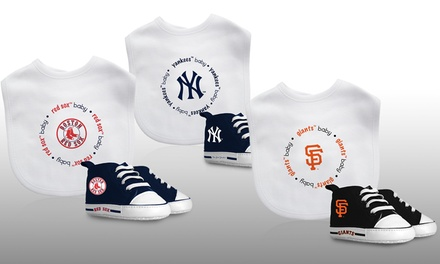MLB Infant Bib and Pre-Walker Shoes Set