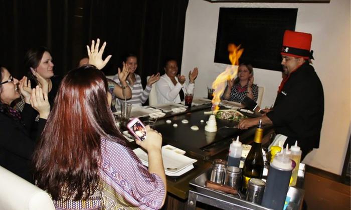 Asian Hibachi Cuisine Bambu Modern Asian Restaurant Groupon - Hibachi table restaurant
