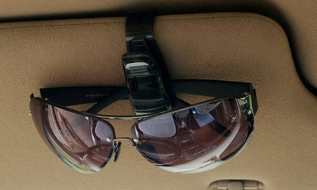 1 ou 2 supports de lunettes à clipser sur le pare soleil voiture