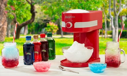 One or Two Cooks Professional Ice Slushy Makers with Four Optional Lickleys Syrups