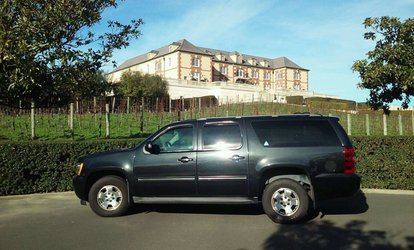 Sonoma Limo Wine Tour in a Luxury Car from Black Cars <strong>Transportation</strong> (Up to 46% Off)