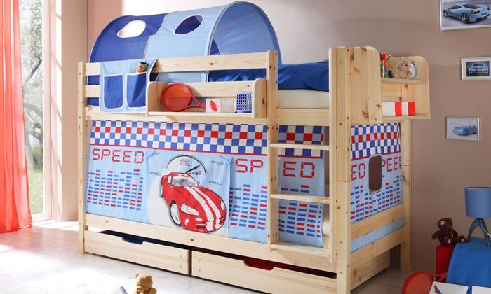Ticaa Etagenbett Erni : Violett buche etagenbetten online kaufen möbel suchmaschine
