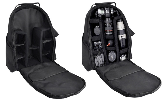 xit deluxe padded digital camera backpack groupon. Black Bedroom Furniture Sets. Home Design Ideas
