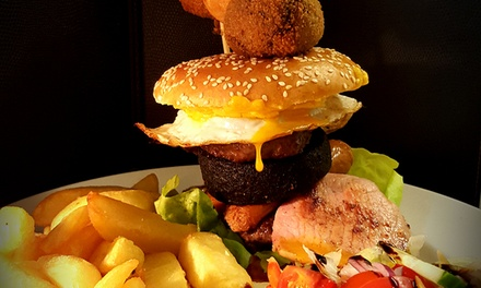 Choice of Burger with Steak-Cut Chips for Up to Four at The Telford Arms (Up to 48% Off)