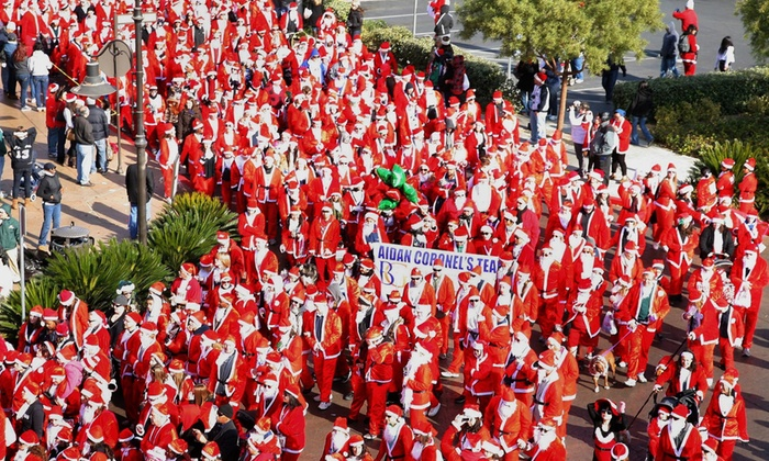 The 2015 San Francisco Great Santa Run - Multiple Locations: Registration for One or Two to the The San Francisco Great Santa Run and Rudolph 1 Miler (Up to 24% Off)