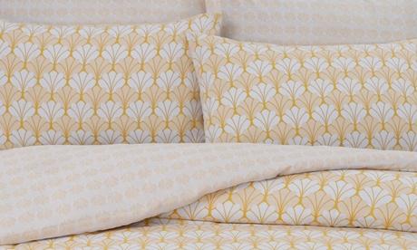 Parure de lit réversible en polycoton