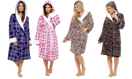 One or Two Women's Printed Fleece Robes