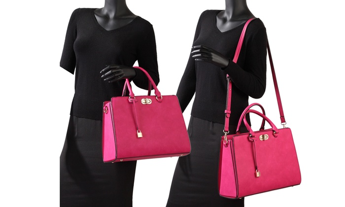 8142e1884f04b1 MK Belted Collection Satchel Handbag and Wallet by Marco Group | Groupon