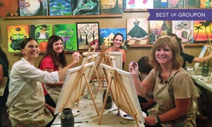 The Royal Canvas Painting Parlor: Children's Painting Class or Adult BYOB Painting Class at The Royal Canvas Painting Parlor (Up to 40% Off)