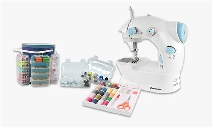 Máquina de coser y kit de costura 183 piezas