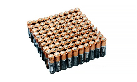 100 Pack Duracell CopperTop Duralock Batteries: AA or AAA