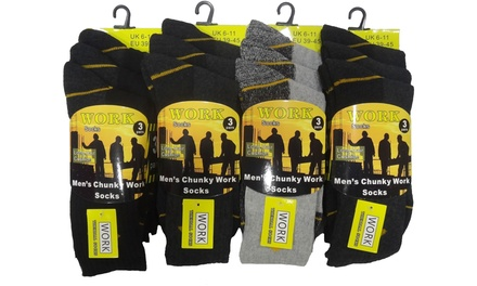 Men's Work Socks 12Pack for £9.98