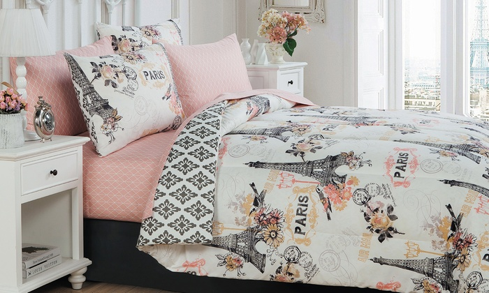 Cherie Bed-in-a-Bag Set (8-Pc.) | Groupon Goods