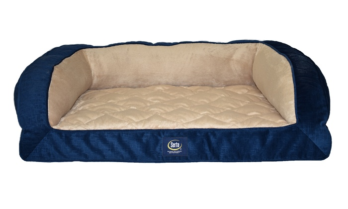 Serta Quilted Orthopedic Couch Pet Bed Livingsocial