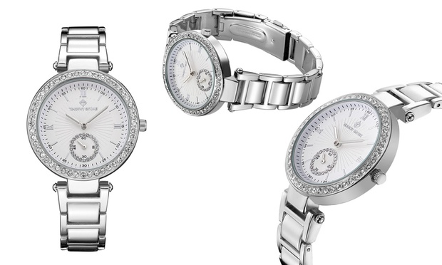 Free Shipping: Timothy Stone Steel Watch with Crystals from Swarovski®: One ($35) or Two ($65) (Dont Pay up to $888.51)