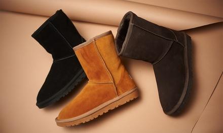 Boots en daim fourrées