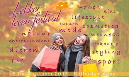 Ticket voor Lekker Leven Festival van 58 oktober in Rotterdam Ahoy