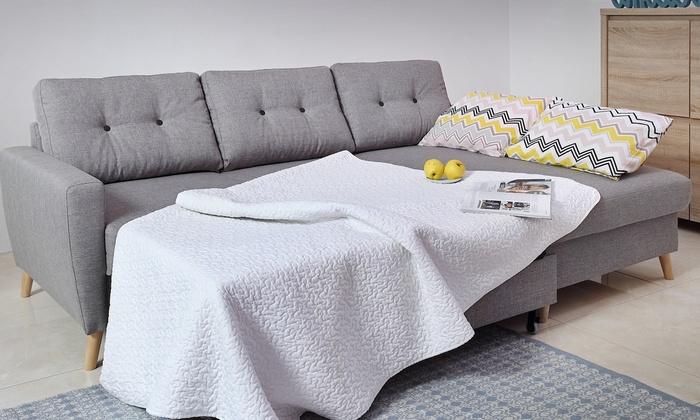 canap scandinave convertible ou non nordby groupon. Black Bedroom Furniture Sets. Home Design Ideas