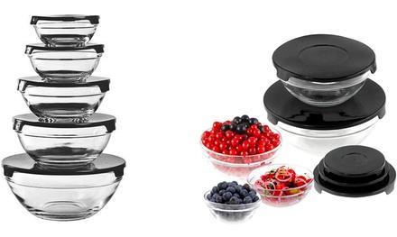 Set di contenitori di vetro per alimenti