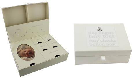 Caja del bebé para guardar recuerdos Bambino by Juliana con cajones