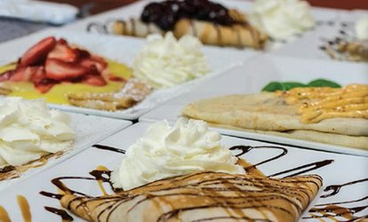 image for Sweet and Savory Crepes for Two or Four at Marokena Crepe & Cafe (Up to 40% Off)