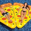 Inflatable Pizza Pool Float Lounger with Connectors