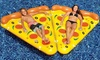 Inflatable Pizza Pool Float Lounger with Connectors: Inflatable Pizza Pool Float Lounger with Connectors