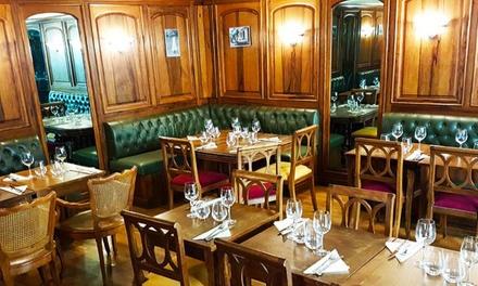 Menu raffiné en 3 services le jeudi soir pour 2 personnes à 39,90 € au Restaurant Café du Tailleur