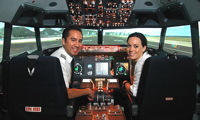 Flightdeck Flight Simulation Center - Anaheim: 30-, 60-, or 90-Minute Boeing 737 Simulator Experience at Flightdeck Flight Simulation Center (Up to 36% Off)