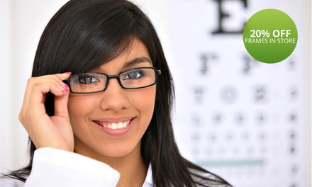 Eye Examination and 20% Discount On Any Spectacle Frame from R99 for One at ZA Khan Optometrists (Up to 76% Off)