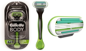 Gillette Men's Body Razor with 5 Gillette Body Cartridges