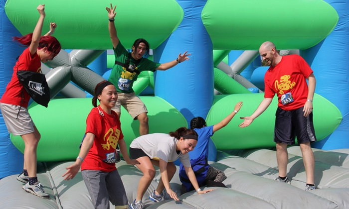 Insane inflatable 5k in west melbourne fl groupon for Insane inflatable 5k shirt