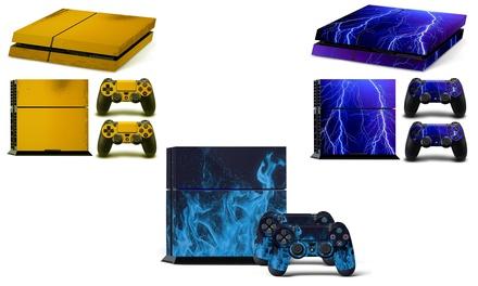 1x oder 3x Aufkleber-Set für Playstation 4 Konsole und Kontroller im Motiv nach Wahl (Munchen)