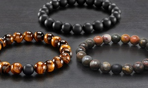 Men's Natural Healing Stone Stretch Bracelet