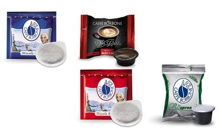 100 o 200 cialde o capsule di Caffè Borbone compatibili A modo mio, Respresso, Lavazza Espresso Point o Don Carlo