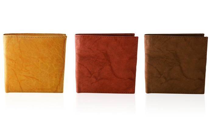 AFONiE Extra Capacity Bifold Leather Men's Wallet