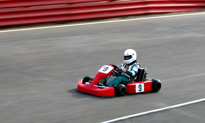 Fast Lane Indoor Kart Racing - West Bench: Three Go-Kart Races at Fast Lane Indoor Kart Racing (46% Off). Two Options Available.