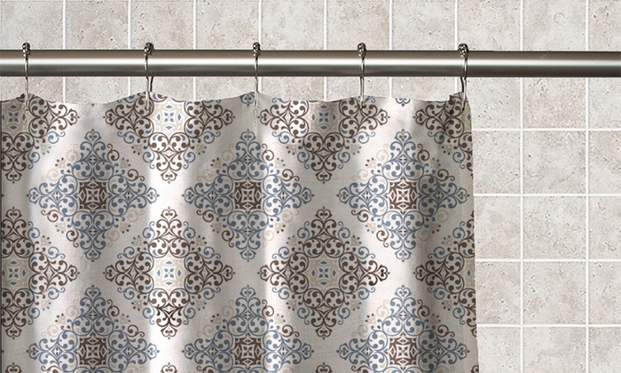 Moroccan Print Shower Curtain Groupon Goods