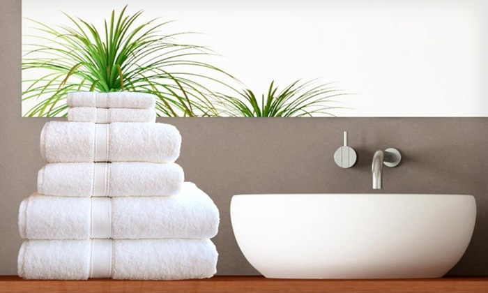 Linum Pure White Terry Four-Piece Towel Set: $27 for a Four-Piece Special Combo Pure White Terry Towel Set ($100 List Price). Free Shipping and Free Returns.