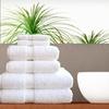 73% Off a Pure White Four-Piece Towel Set