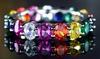Rainbow Genuine Quartz Eternity Rings in Sterling Silver by Peermont