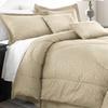 6-Piece Embossed Leaf Microfiber Comforter Set