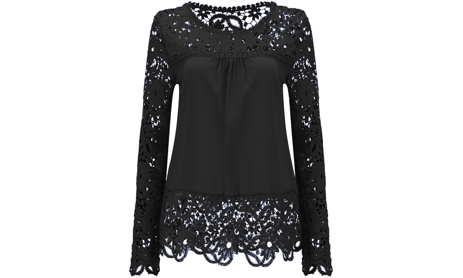 Floral Crochet Long-Sleeved Top From £7.99